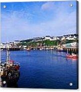 Fishing Harbour, Dunmore East, Ireland Acrylic Print