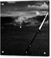Fishing On The County Antrim Coast Northern Ireland Acrylic Print