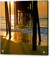 Fishing Pier And Surf II Acrylic Print