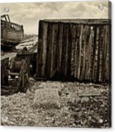 Fishing Remains At Dungeness Acrylic Print