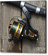 Fishing Rod And Reel . 7d13542 Acrylic Print by Wingsdomain Art and Photography