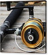 Fishing Rod And Reel . 7d13547 Acrylic Print