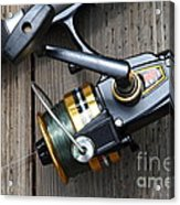 Fishing Rod And Reel . 7d13565 Acrylic Print by Wingsdomain Art and Photography