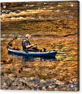 Fishing The Golden Hour Acrylic Print