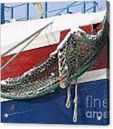 Fishing Vessel In Winter's Rest Acrylic Print