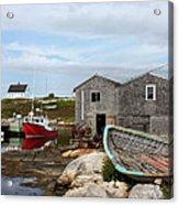 Fishing Village In Nova Scotia Acrylic Print
