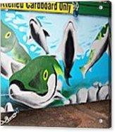 Fishy Dumpster Acrylic Print