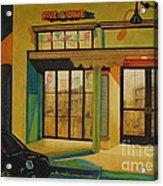 Five And Dime Acrylic Print by Vikki Wicks