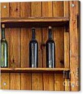 Five Bottles Acrylic Print by Carlos Caetano