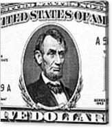 Five Dollar Bill Acrylic Print