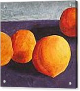 Five Peaches Acrylic Print by Dina Day