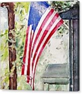 Flag Day Acrylic Print by Regina Ammerman