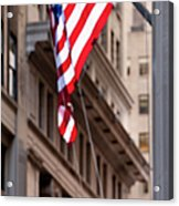 Flag On Broadway Acrylic Print