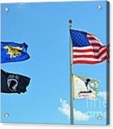 Flags Flying High Acrylic Print