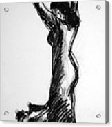Flamenco Sketch 3 Acrylic Print
