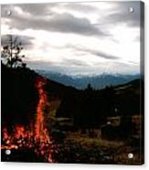 Flames With View Acrylic Print