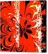 Flaming Flower Acrylic Print