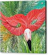 Flamingo Mask 2 Acrylic Print