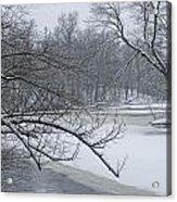 Flat River In Winter No.026 Acrylic Print