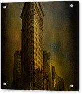 Flatiron Building...my View..revised Acrylic Print
