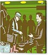 Flea Market Selling Trading Retro Acrylic Print by Aloysius Patrimonio