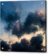 Fleecy Sunset Clouds  1208 Acrylic Print
