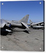 Flight Deck Personnel Reposition Av-8b Acrylic Print