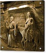 Flight Into Egypt - Wieliczka Salt Mine Acrylic Print