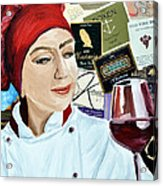 Flo Enjoys A Glass Of Wine Acrylic Print