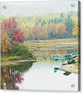 Float Plane On Pond Near Golden Road Maine Photo Poster Print Acrylic Print