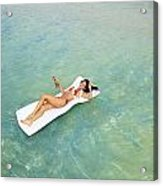 Floating At Sea Acrylic Print