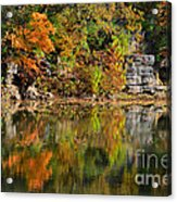 Floating Leaves In Tranquility Acrylic Print