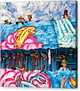 Floating Thru Mardi Gras Acrylic Print by Steve Harrington