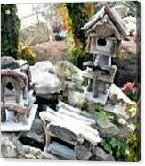 Flock Of Rustic Birdhouses Acrylic Print