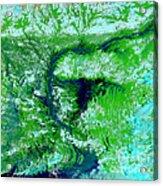 Flooding In Bangladesh Acrylic Print by Nasa