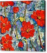 Floral Art - Red Poppies Acrylic Print