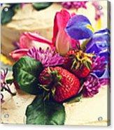 Floral Cake Acrylic Print