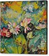 Floral Fire Acrylic Print