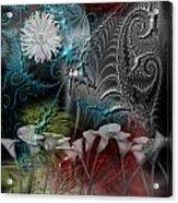 Floral Fractal Acrylic Print