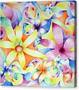 Floral Fractal Acrylic Print by Linda Pope