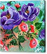 Floral Frenzy Acrylic Print