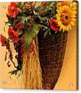 Floral Horn Of Plenty Acrylic Print