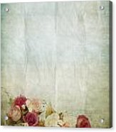 Floral Pattern On Old Paper Acrylic Print