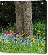 Floral Surrounding Acrylic Print