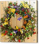 Floral Wreath Acrylic Print