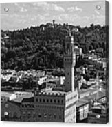 Florence - Black And White Acrylic Print