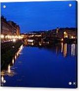 Florence Arno River Night Acrylic Print