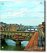 Florence Shopping Bridge Acrylic Print