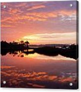 Florida Sunrise Acrylic Print by Charles Warren