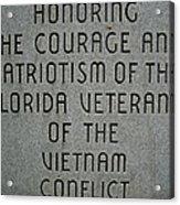 Florida Vietnam War Memorial Acrylic Print